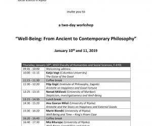Workshop 'Well-being: From Ancient to Contemporary Philosophy'
