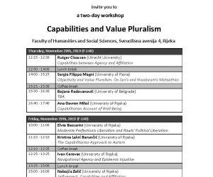 Workshop 'Capabilities and Value Pluralism'